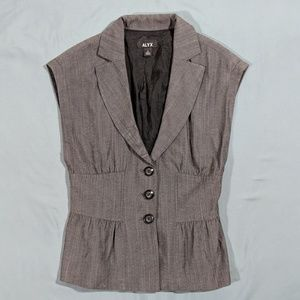 Alyx Size 4 Button Up Suit Vest With Peplum Detail